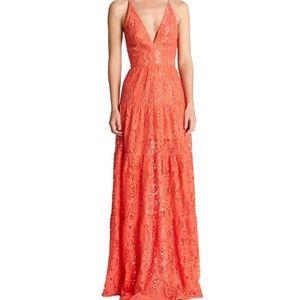 Dress the Population Coral Lace Dress - XL
